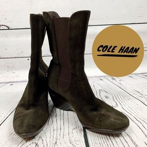 Cole Haan Nike Air Pull-On Suede Boots